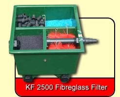 Fibreglass filters kockney koi for Fish pond filtration setup
