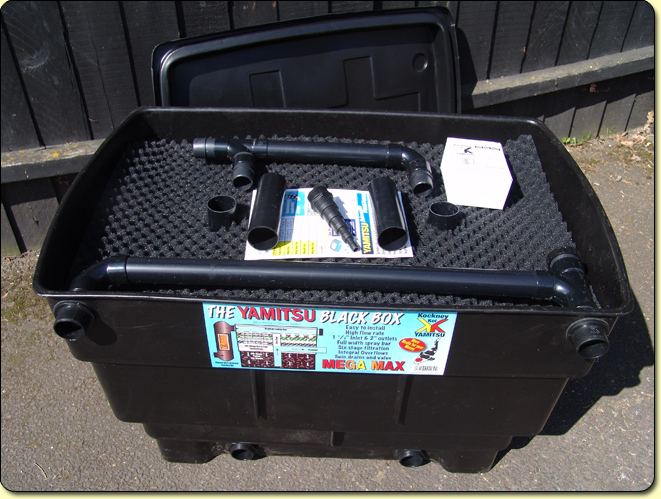 Mega media max black box large kockney koi for Cleaning fish pond filters