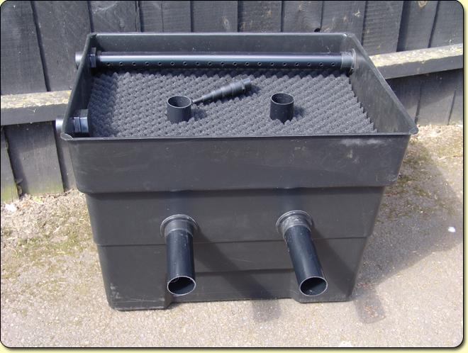 Mega media black box xl kockney koi for Homemade pond filter box