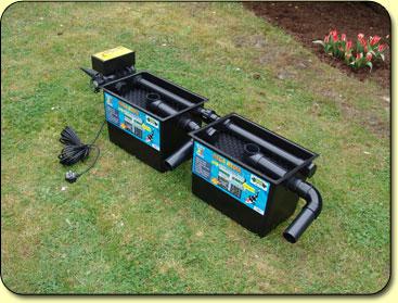 Mega media black box kockney koi for Koi pond filter setup