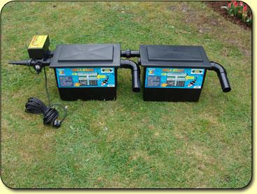 Mega black box twin kockney koi for Large pond filter box