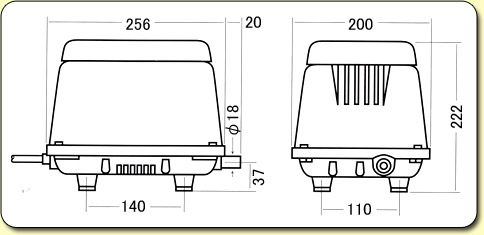 HiBlow Air Pumps HP80 Diagram