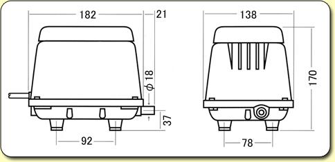 HiBlow Air Pumps HP20 Diagram
