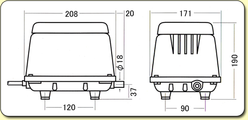 HiBlow Air Pumps HP40 Diagram