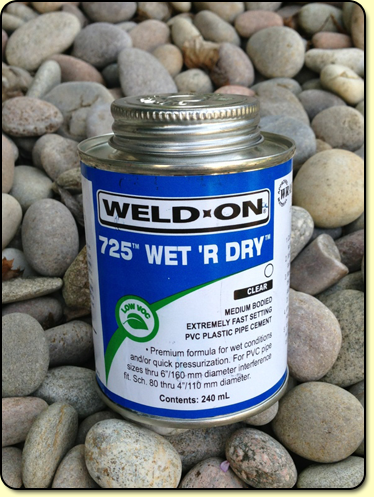 Solvent weld cement and cleaner kockney koi for Cement cleaning products